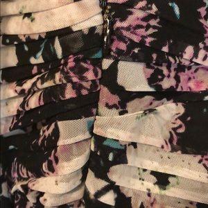 BCBGMaxAzria Dresses - BCBG Maxazria floral strapless dress